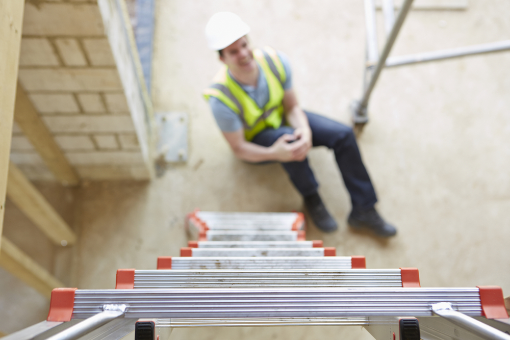 worker fell off ladder resulting in work injury cause-law offices of ed singer